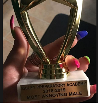Annoying Male trophy
